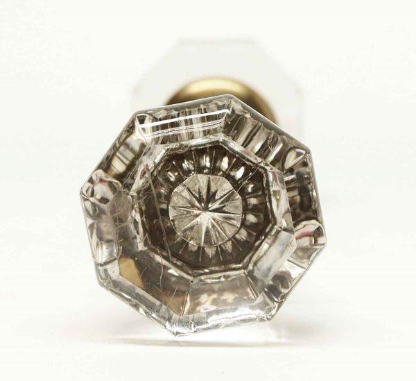 Vintage Clear Glass Octagon Knob Set - Door Knobs