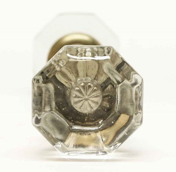 Vintage Glass Star Bullet Knob Set - Door Knobs