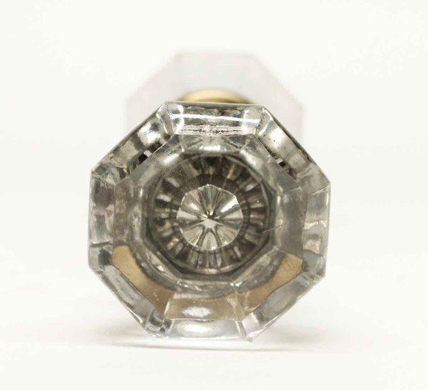 Vintage Octagon Clear Glass Knob Set - Door Knobs