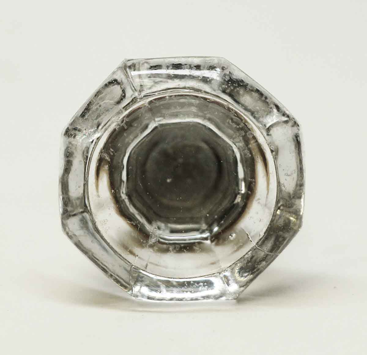 Good Concave Glass Furniture Knob With Brass Base