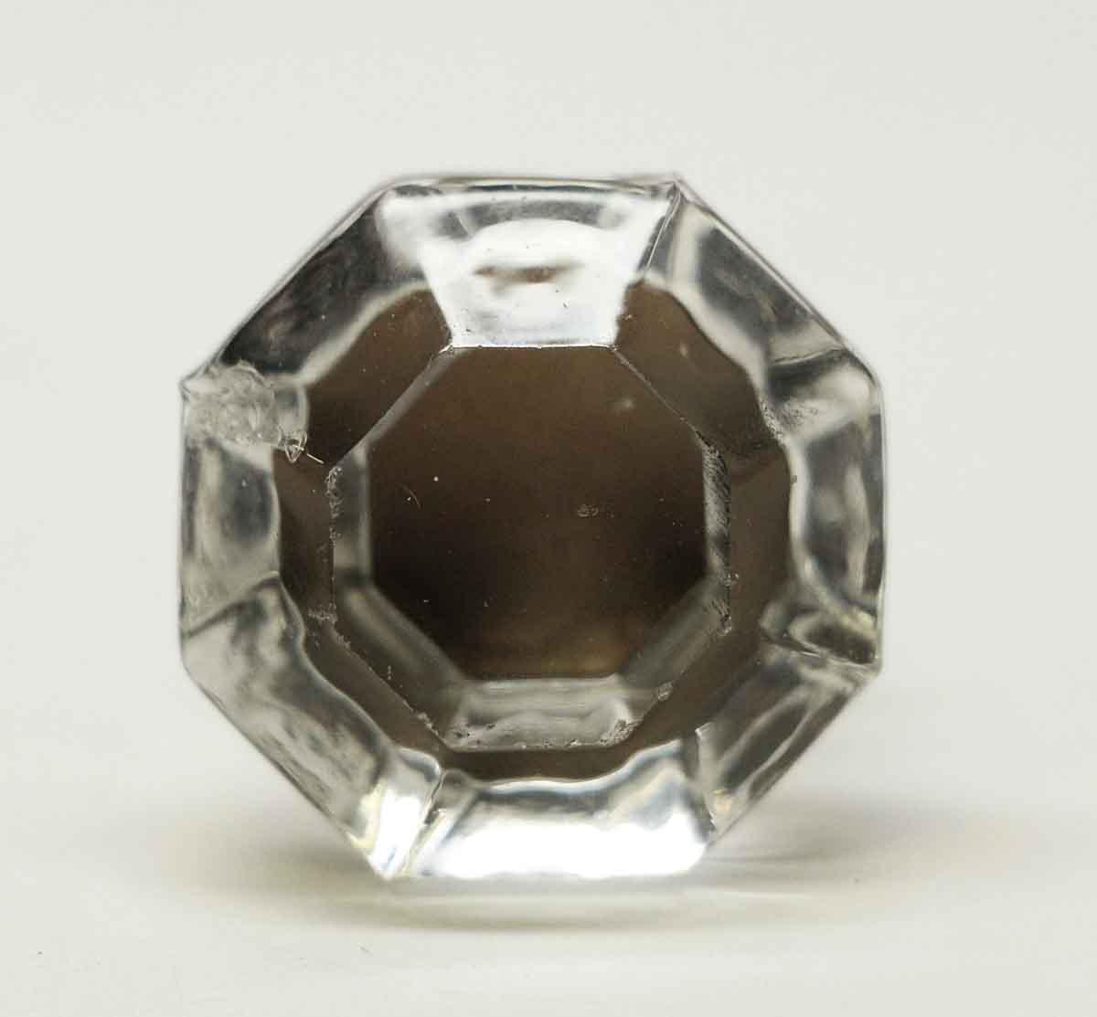 Vintage Faceted Octagon Glass Furniture Knob
