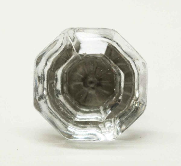 Original Glass Drawer Knob with Floral Center - Cabinet & Furniture Knobs