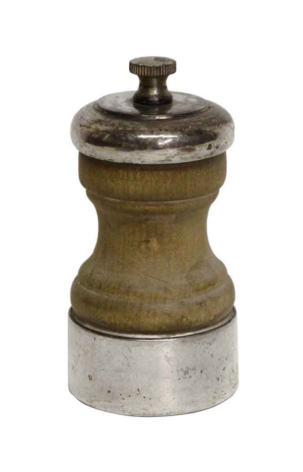 Sterling Silver & Wood Vintage Pepper Mill - Kitchen