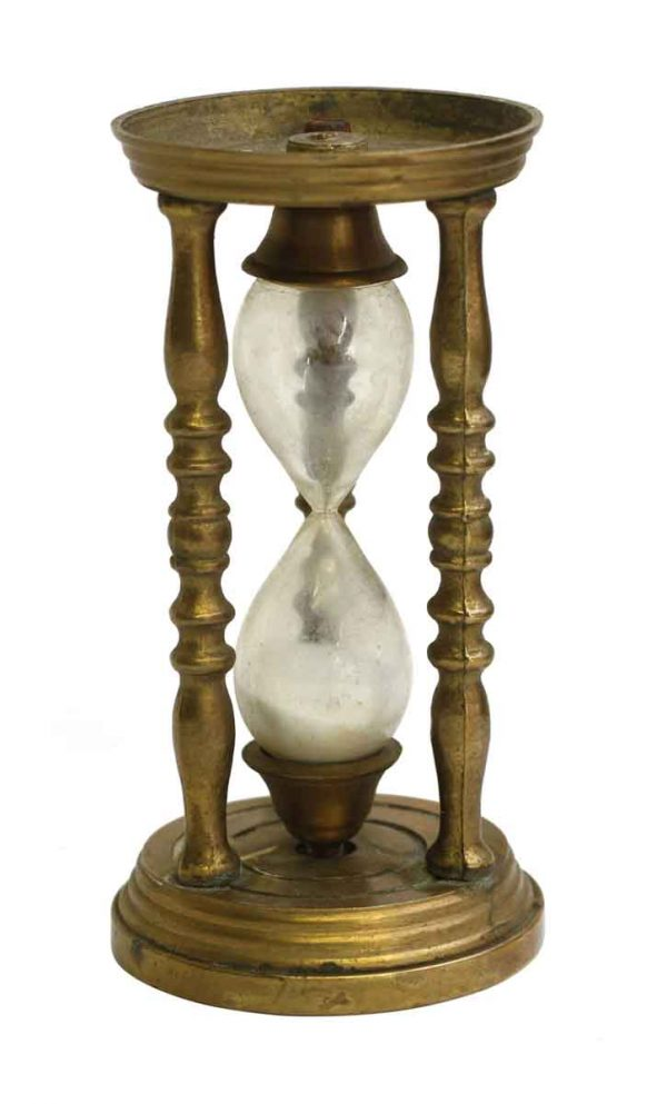 Antique Mini Brass Hourglass - Clocks