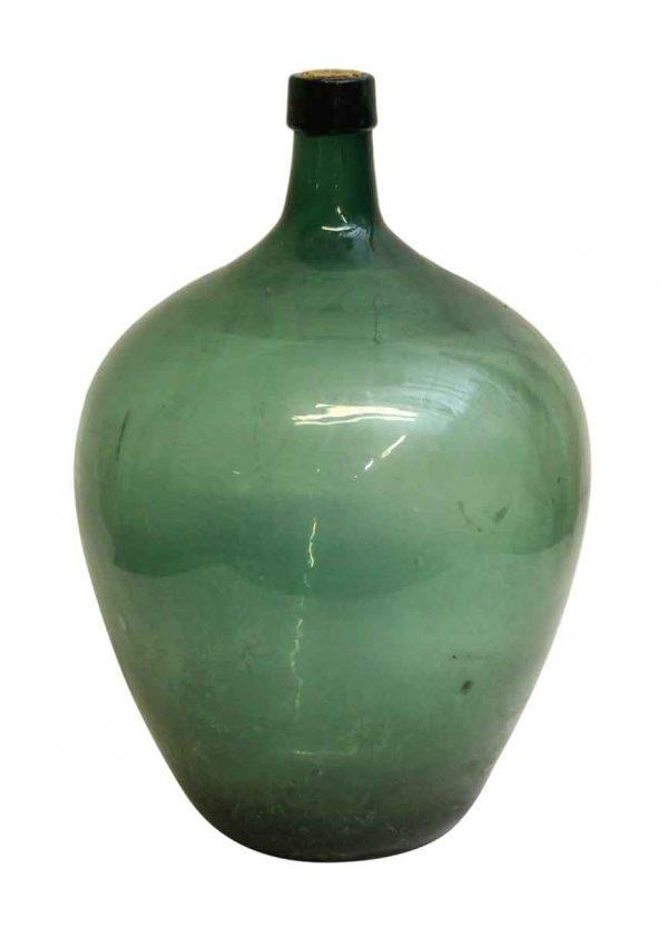 Green Glass Demijohn Bottle - Bottles & Jars