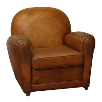 ... Furniture, Living Room. $25.00. Vintage Rolling Brown Leather Club Chair