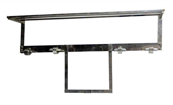 Art Deco Nickel Plated Steel Wall Hook Rack - Racks