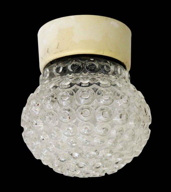 Textured Glass Semi Flush Light Fixture - Flush & Semi Flush Mounts