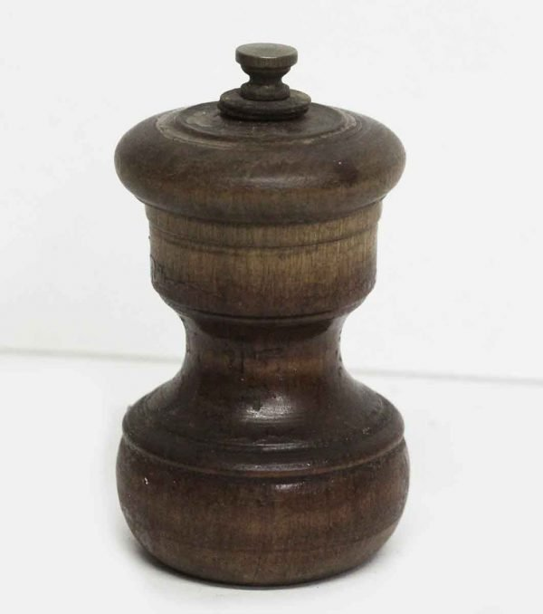 Small Wooden Vintage Pepper Mill - Kitchen