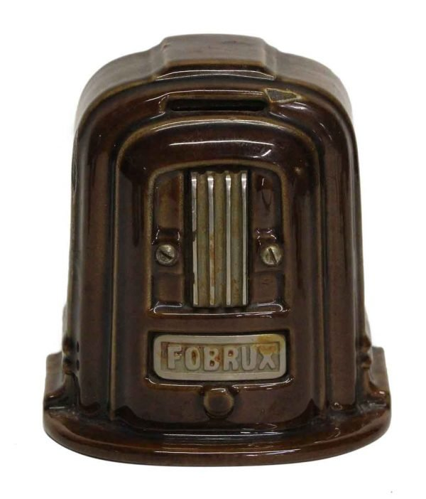 Vintage Brown Coin Bank - Cash Registers