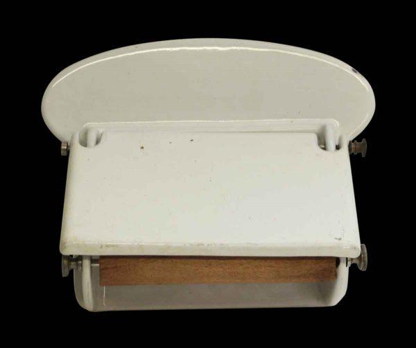Vintage White Porcelain Coated Toilet Paper Holder - Bathroom