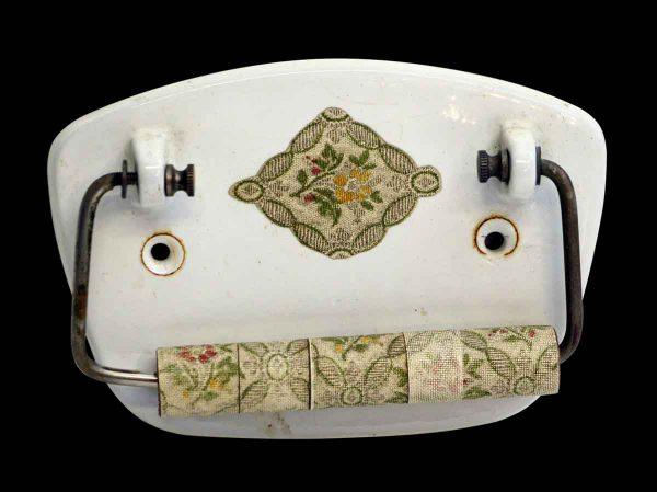 Vintage Floral Toilet Paper Holder - Bathroom