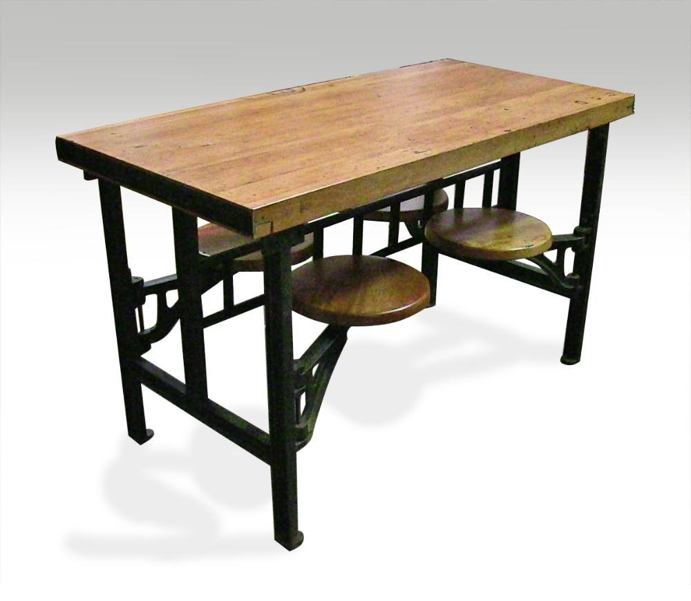 Captivating Four Seat Swing Seat Industrial Factory Table