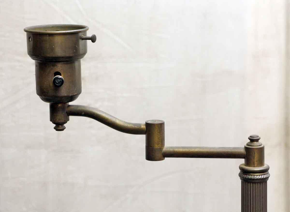 1940s Antique Brass Swing Arm Floor Lamp Olde Good Things