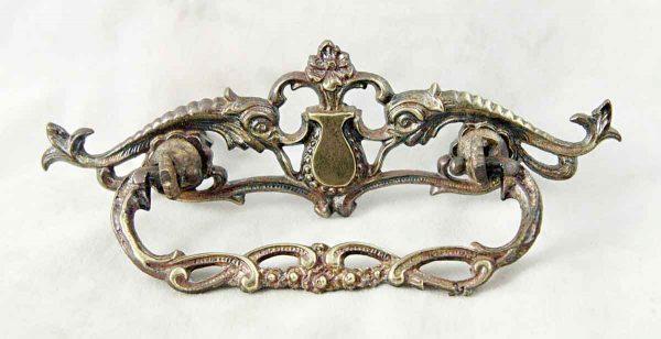 Victorian Cut Out Brass Dresser Pull - Cabinet & Furniture Pulls