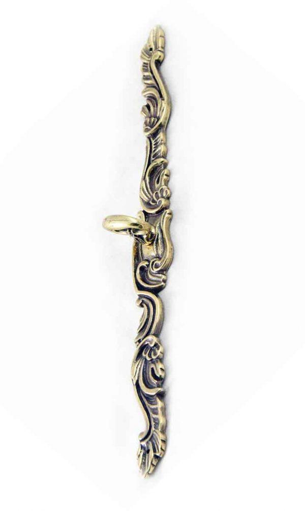 Art Nouveau Ornate Brass Furniture Pull - Cabinet & Furniture Pulls
