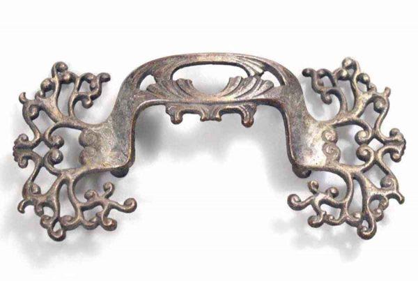 Ornate Decorative Brass Furniture Pull - Cabinet & Furniture Pulls