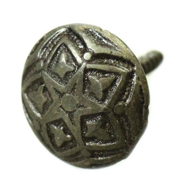 Eastlake Iron Drawer Knob with Antique Patina - Cabinet & Furniture Knobs