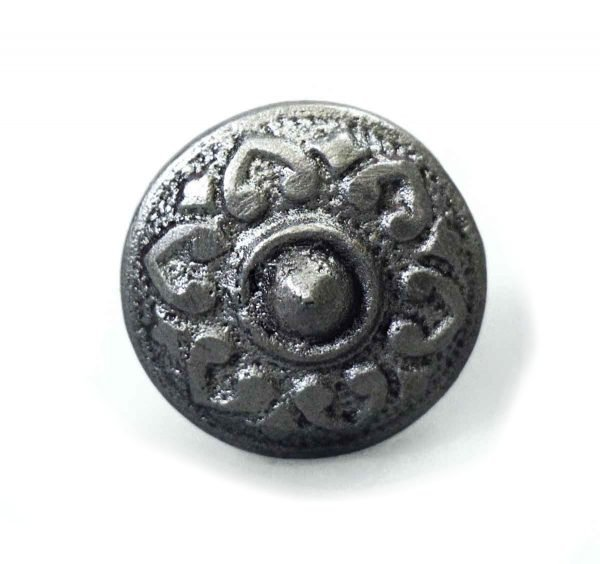 Vintage Black Iron Floral Drawer Knob - Cabinet & Furniture Knobs