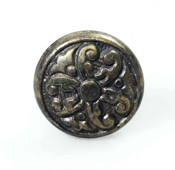 Victorian 2-fold Iron Cabinet Knob - Cabinet & Furniture Knobs