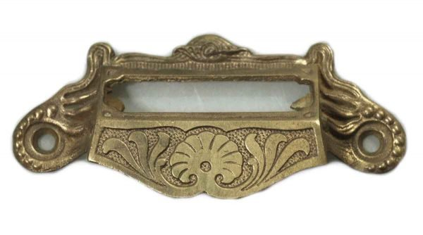 Iron Apothecary Cabinet Pull with Brass Finish - Cabinet & Furniture Pulls