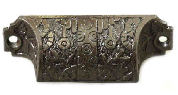 Antique Cast Iron Vernacular Bin Pull - Cabinet & Furniture Pulls