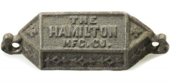 Antique Hamilton Mfg. Co. Iron Bin Pull - Cabinet & Furniture Pulls