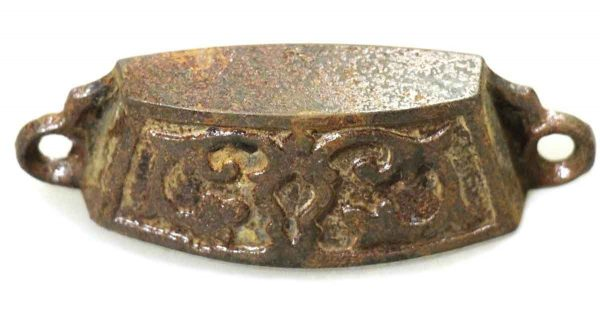 Antique Victorian Iron Bin Pull - Cabinet & Furniture Pulls