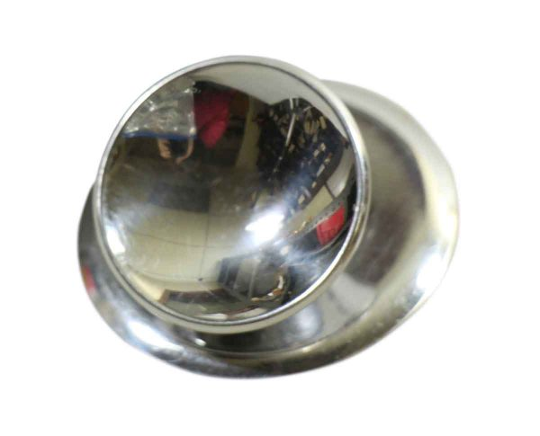 Vintage Chrome Plated Knob with Matching Plate - Cabinet & Furniture Knobs