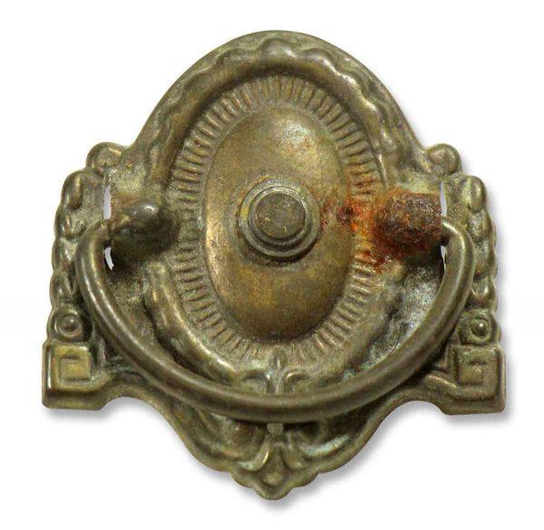 Antique Victorian Cast Brass Bail Pull - Cabinet & Furniture Pulls
