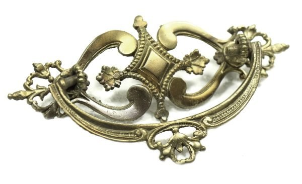 Antique Ornate Brass Drawer Pull - Cabinet & Furniture Pulls