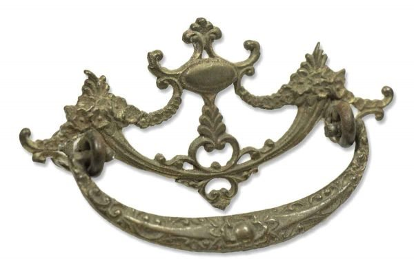 Antique Empire Brass Drawer Pull - Cabinet & Furniture Pulls