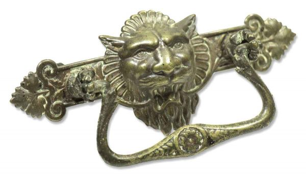 Antique Pressed Brass Lion Pull - Cabinet & Furniture Pulls