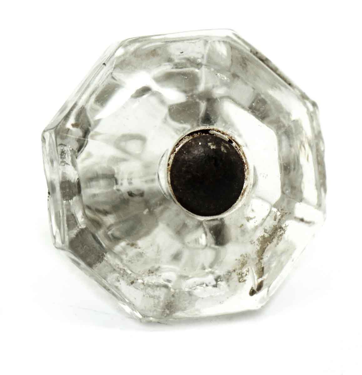 Glass Cabinet Knobs Inside Vintage Octagon Glass Cabinet Knob Olde Good Things