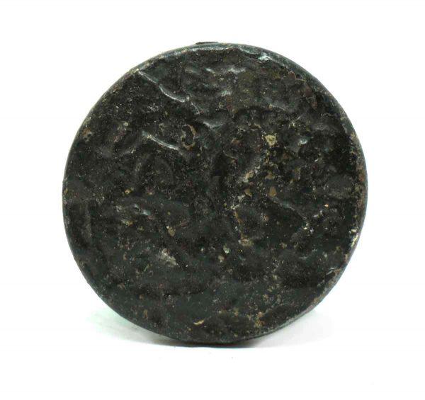 Arts & Crafts Textured Black Iron Round Knob - Cabinet & Furniture Knobs