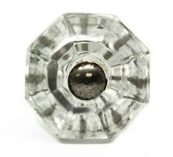 Vintage Octagon Clear Raised Glass Knob - Cabinet & Furniture Knobs