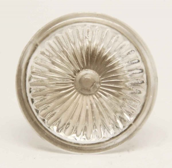 Vintage Daisy Clear Glass Knob - Cabinet & Furniture Knobs