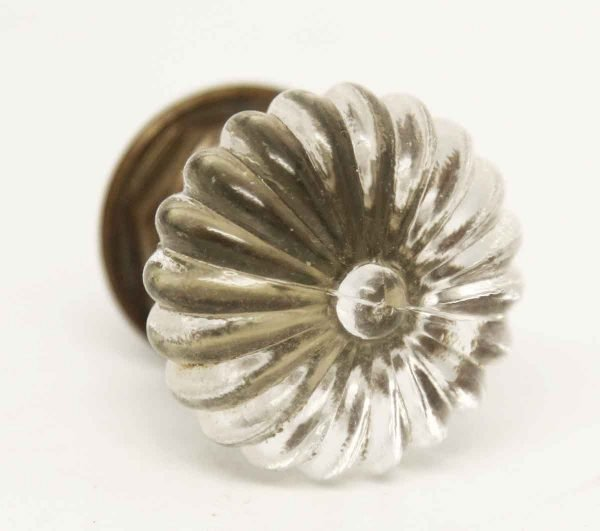 Vintage Fluted Daisy Glass Knob - Cabinet & Furniture Knobs