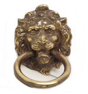 Antique Lion Head Ring Pull
