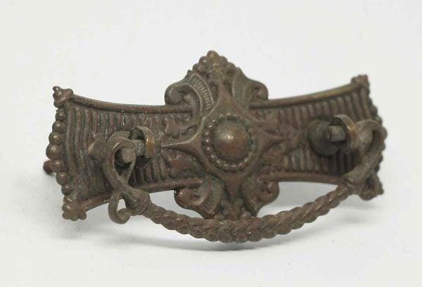 Victorian Antique Brass Drawer Pull - Cabinet & Furniture Pulls
