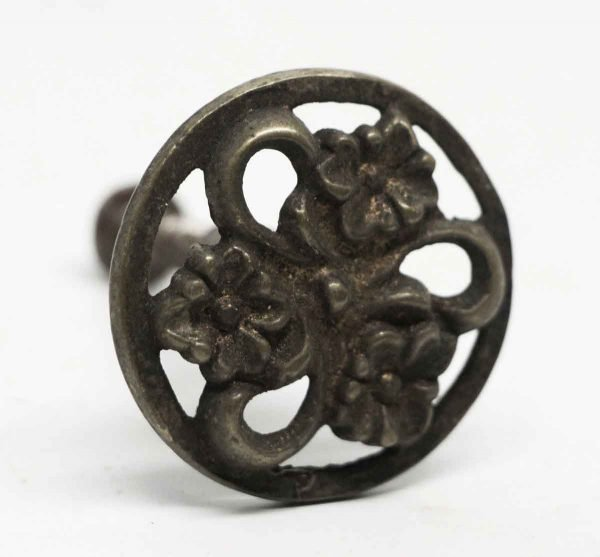 Antique Round Floral Furniture Knob - Cabinet & Furniture Knobs