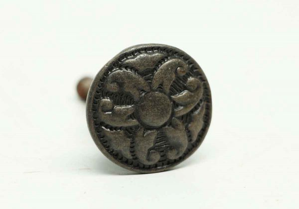 Ornate Round Black Floral Drawer Knob - Cabinet & Furniture Knobs