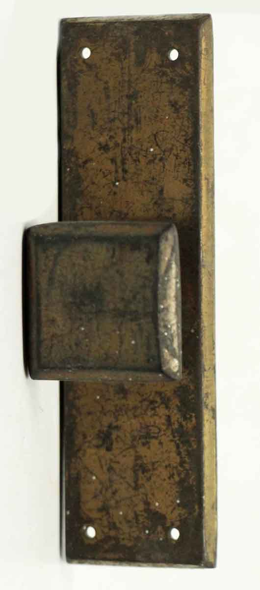 Antique Cabinet Pull with Plate - Cabinet & Furniture Knobs