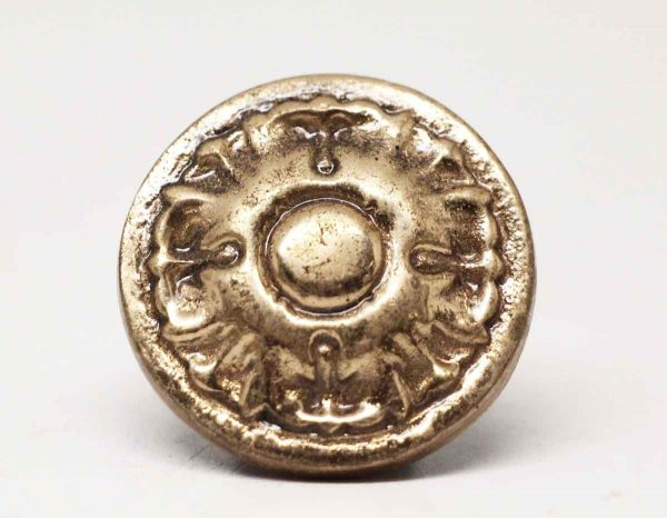 Floral Polished Bronze Round Knob - Cabinet & Furniture Knobs