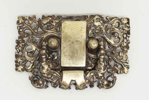 Victorian Polished Brass Drawer Pull - Cabinet & Furniture Pulls