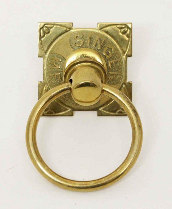 Singer MFG. Co. Polished Brass Pull - Cabinet & Furniture Pulls