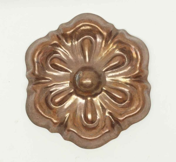 Copper Plated Aluminum Flower Applique - Applique
