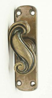 antique door locks. antique swirl bolt knob with back plate door locks