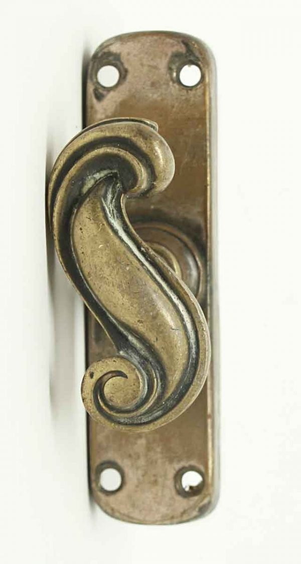 Antique Swirl Bolt Knob with Back Plate - Door Locks