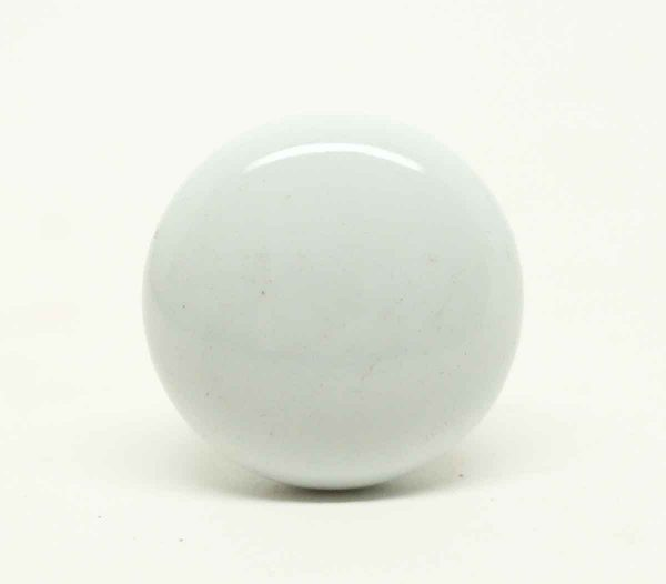 Vintage Plain White Ceramic Drawer Knob - Cabinet & Furniture Pulls